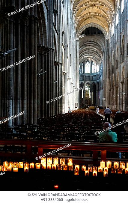 France, Normandy, city of Rouen, the cathedral