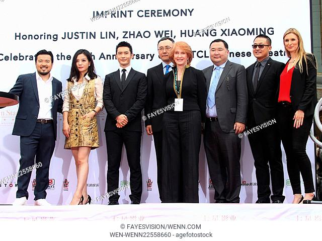 Hand Print/Birthday Bash Ceremony at the TCL Chinese Theatre IMAX Featuring: Justin Lin, Zhao Wei, Huang Xiaoming, Cecilia DeMille Presley, Bruno Wu, Mr E