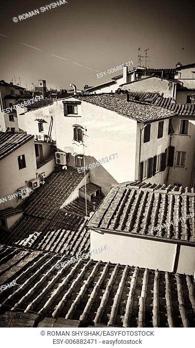View of Florence roofs. Italy