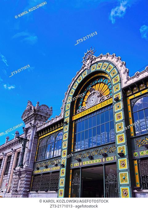 Estacion Bilbao-Concordia - train station in Bilbao, Biscay, Basque Country, Spain