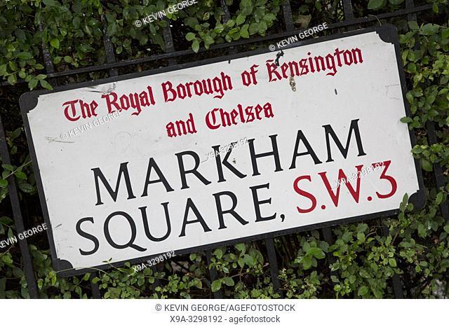 Market Square Street Sign, Chelsea, London