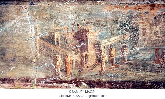 Italy, Naples, Naples National Archeological Museum, Herculaneum, Architectural Landscapes