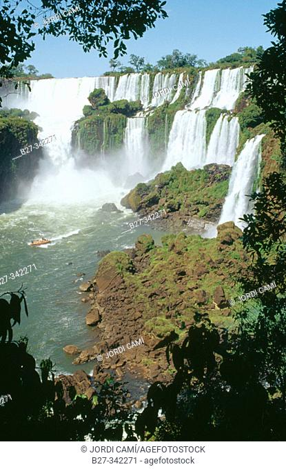 Iguazu National Park Falls. Argentinian side. Misiones province. Argentina