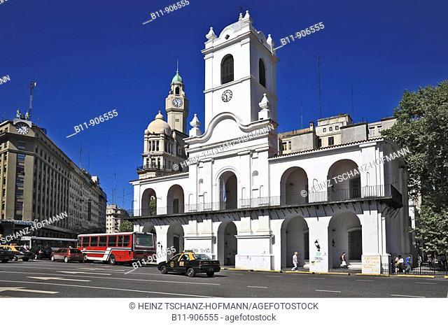 altes Rathaus, Cabildo Museum, an der Plaza de Mayo, Buenos Aires, Argentinien / Old town hall, Cabildo Museum, at the Plaza de Mayo, Buenos Aires, Argentina