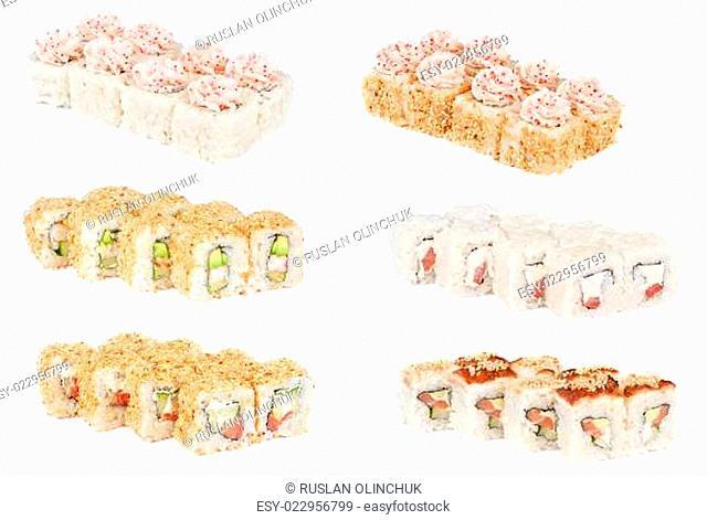 sSet sushi fresh rolls