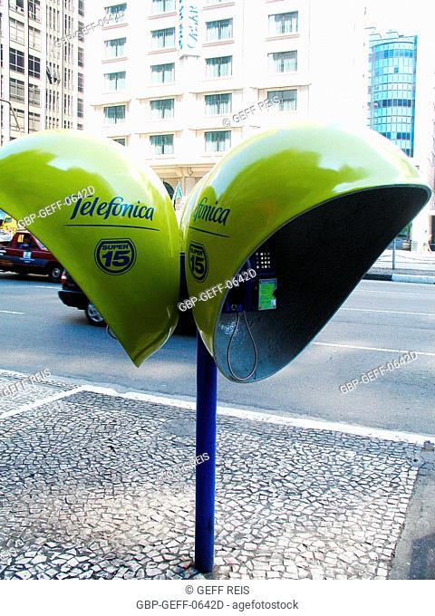 Public telephone, São Paulo, Brazil