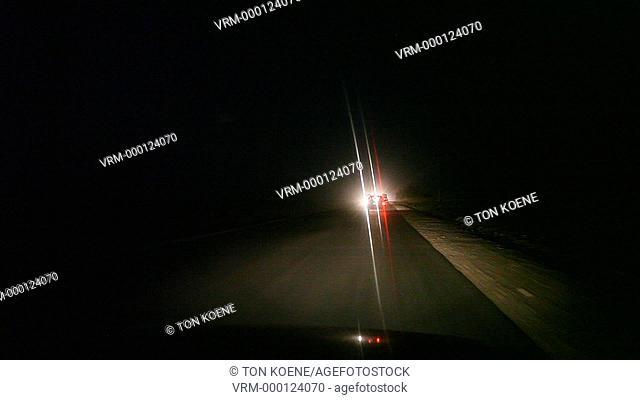 traffic between Kabul and Kunduz city in Afghanistan after nightfall