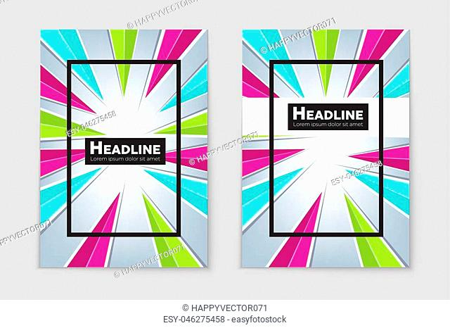 Abstract vector layout background set. For art template design, list, front page, mockup brochure theme style, banner, idea, cover, booklet, print, flyer, book