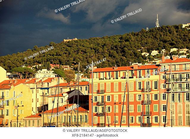 Nice, the harbor, Alpes-Maritimes, French Riviera, Côte d'Azur, Provence-Alpes-Côte d'Azur, France