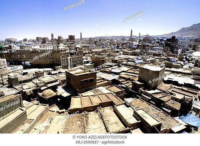 yemen, sana'a, daily life