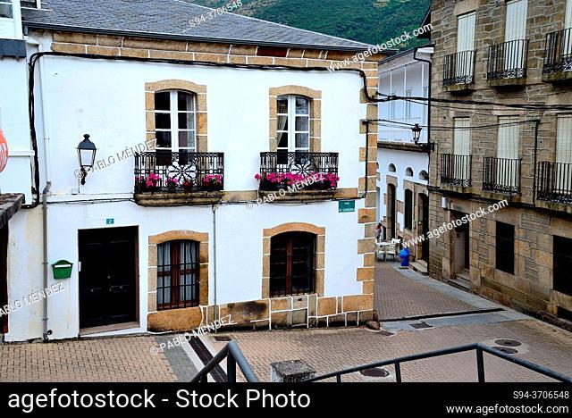 Small square in A Rua Vella, Orense, Spain