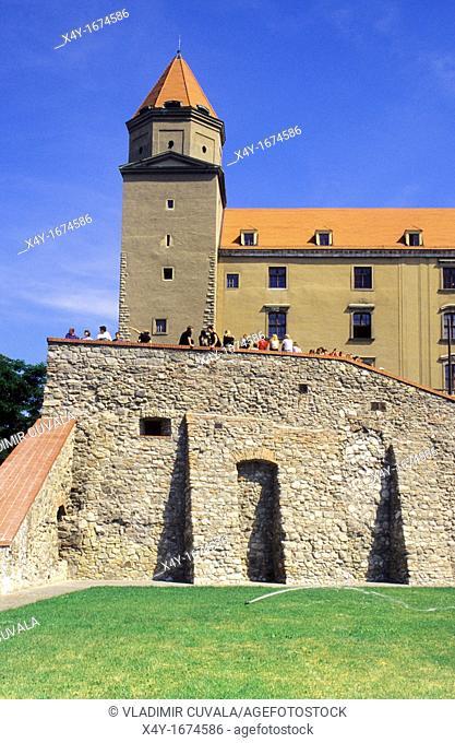 The Bratislava's castle before reconstruction