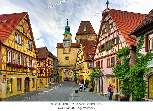 Germany , Rothenburg City Romantic Road , Rodergasse Street , Markus Turm Gate