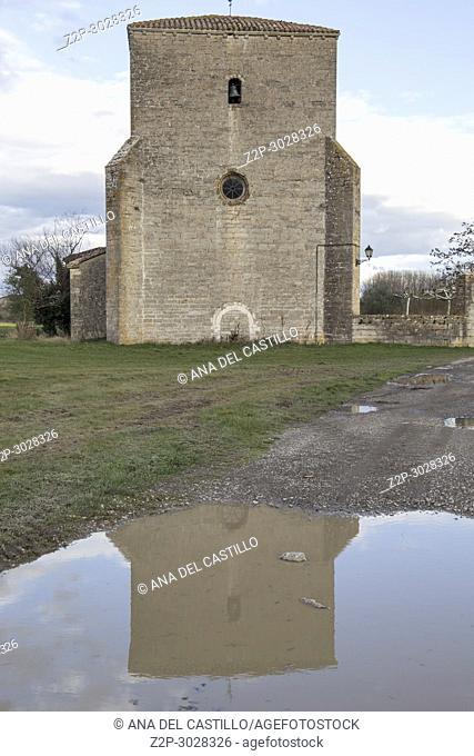 Iglesia parroquial de la Asunción de Asiain is an old village in Navarre. Spain