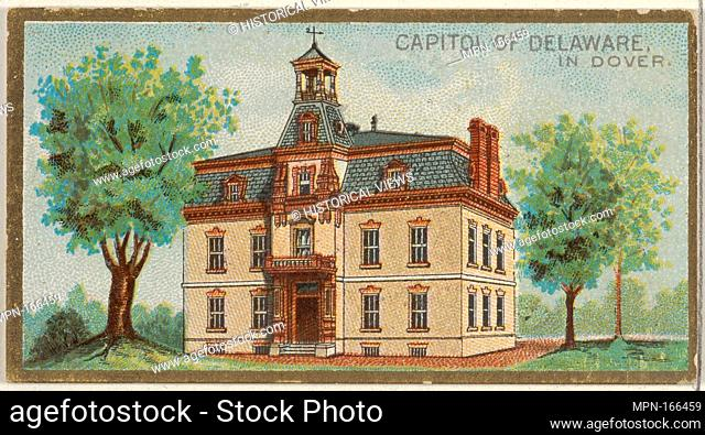 Capitol of Delaware in Dover, from the General Government and State Capitol Buildings series (N14) for Allen & Ginter Cigarettes Brands