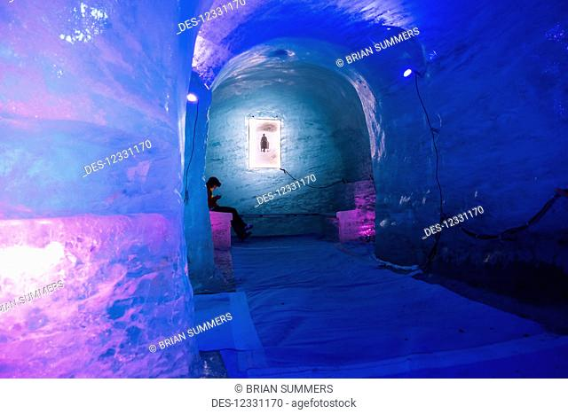 Mer De Glace, Ice Cave, Mont Blanc Massif; France