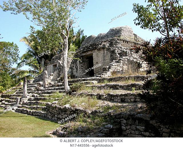 Mayan ruins of Kohunlich (Pre classic & Early Classic, 100 - 600 A.D.). Quintana Roo, Mexico