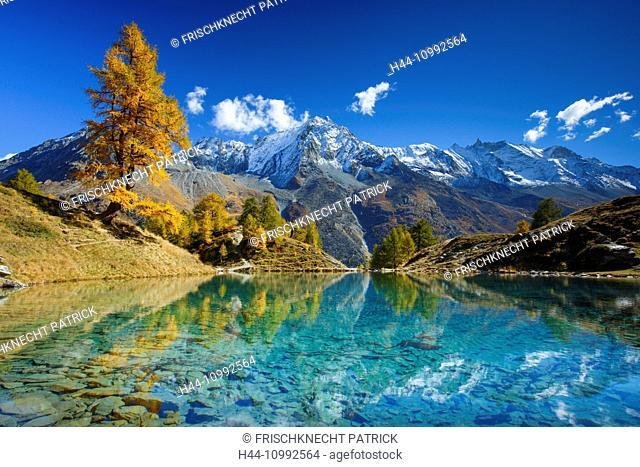 Lac Bleu, Dent de Perroc, Aiguille de la Tsa, Valais, Switzerland
