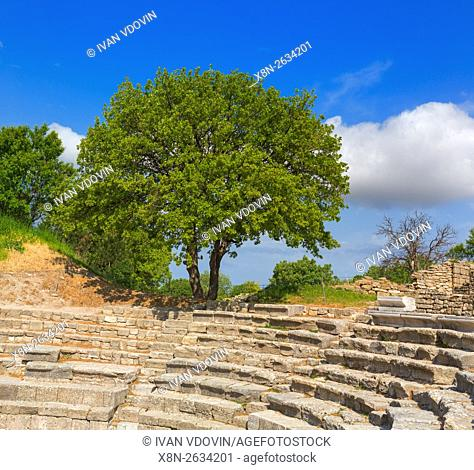 Odeon, ruins of ancient Troy, Canakkale Province, Turkey