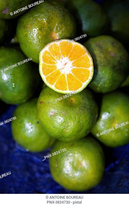 Green Orange in Tari Market, Papua New Guinea