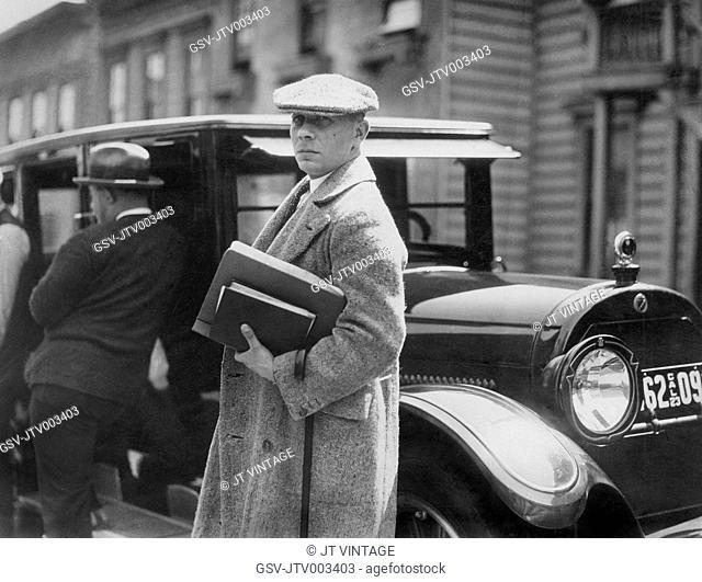 Director Erich Von Stroheim on-set of the Film, Greed, 1924, Stock ...
