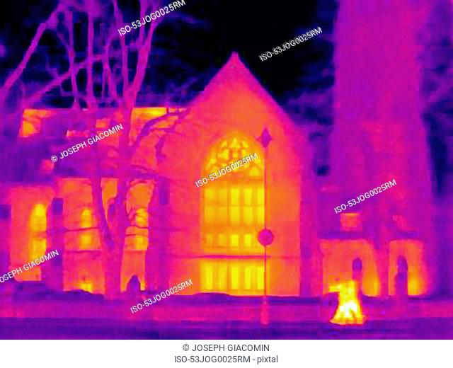 Thermal image of cathedral