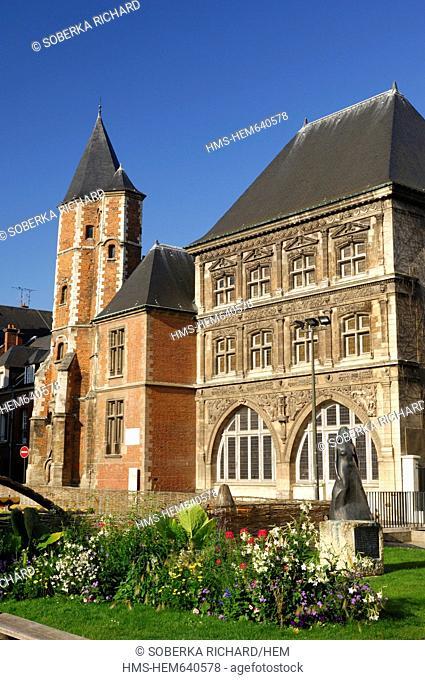 France, Somme, Amiens, Logis du Roi The King Mansion House and Maison du Sagittaire  The Sagittarius House