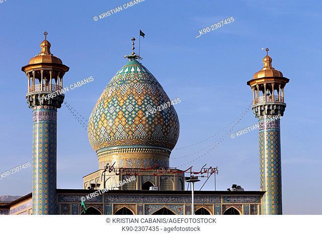 Asune shrine, tomb of Aladdin Hosein, Shiraz, Iran, Central Asia