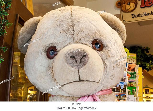 Germany, Bavaria, Romantic Road, Rothenburg-ob-der-Tauber, Teddybear Shop display of Teddybears