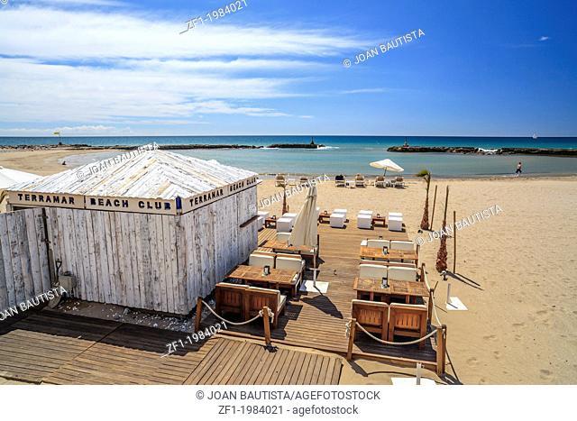 Beach of Sitges,Catalonia,Spain