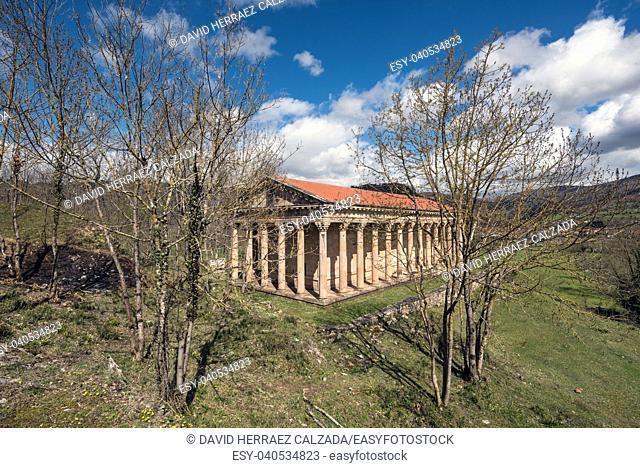 Saint George old neoclassic church in Cantabria, Spain