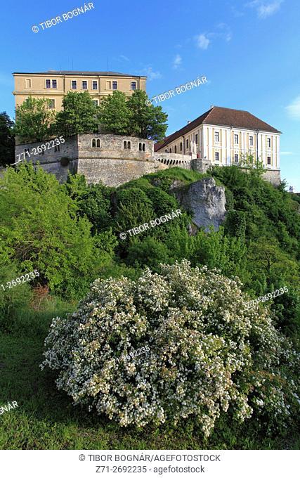 Hungary, Veszprém, Castle District, skyline, Benedek Hill,
