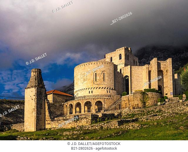 Albania, Krujë, castle at Krujë, now Skanderbeu National Museum