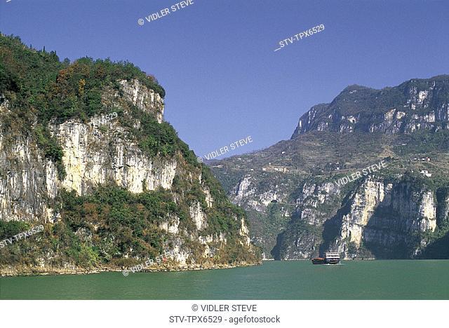 Asia, Chang jiang, China, Gorge, Holiday, Hubei, Landmark, Province, River, Three gorges, Tourism, Travel, Vacation, Xiling, Yan