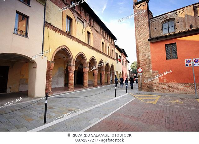 Italy, Lombardy, Pizzighettone, Palazzo Comunale, Old City Hall