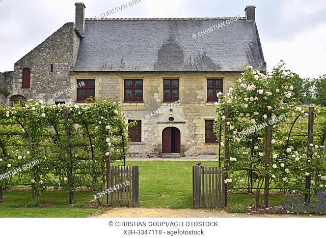Logis de Pierre de Ronsard, Prieure Saint-Cosme a La Riche pres de Tours en Touraine, departement Indre-et-Loire, region Centre-Val de Loire, France