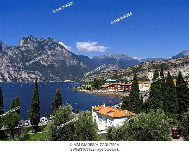 A view over Torbole, Italy, Lake Garda