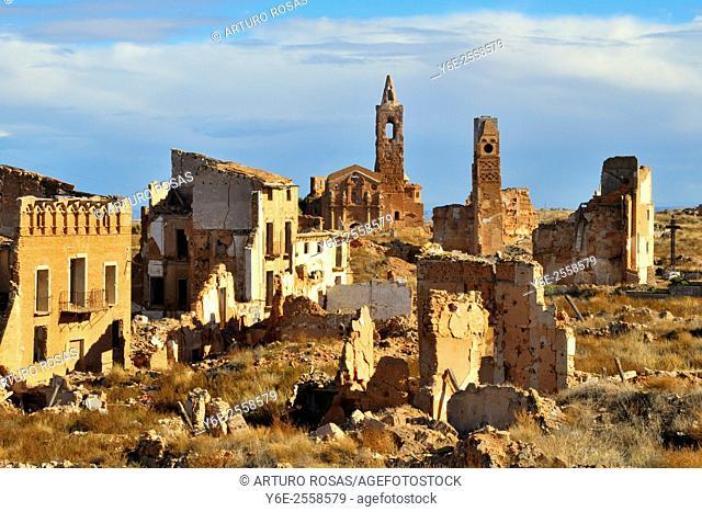 Belchite (Saragossa), Aragon. Spain