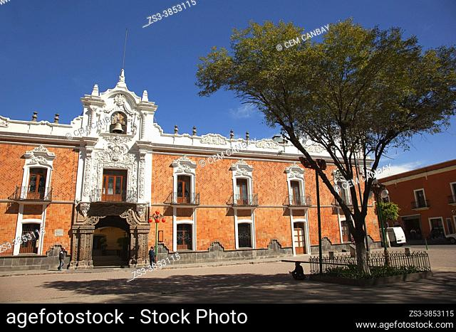 View to the Government Palace-Palacio de Gobierno at the historic center, Tlaxcala, Tlaxcala State, Mexico, Central America