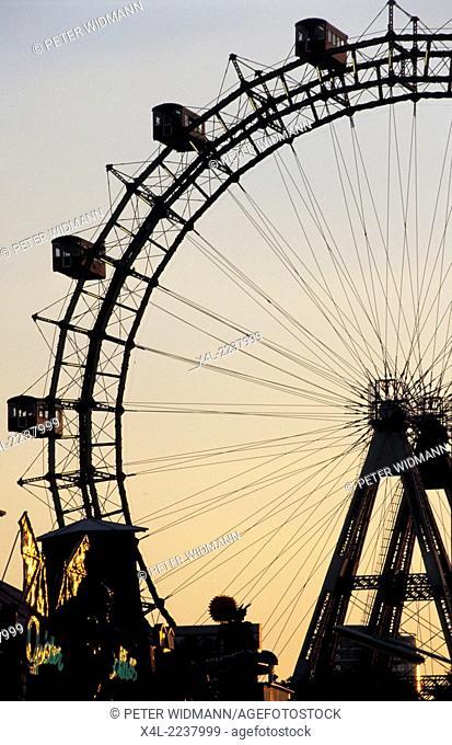 """Giant Ferry Wheel (""""""""Riesenrad""""""""), Prater Vienna, Austria, Vienna, diverse, Prater"""