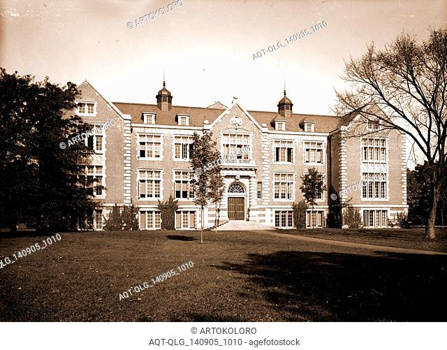 Rockefeller Hall, Vassar College, Universities & colleges, Educational facilities, United States, New York (State), Poughkeepsie, 1904
