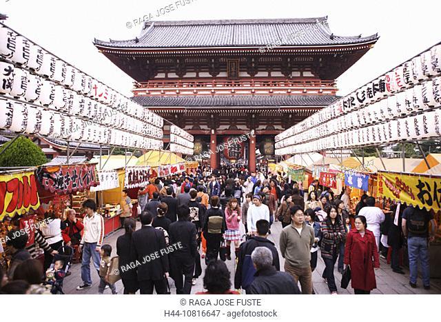 Japan, Asia, Tokyo, Tokyo, Asakusa district, Asakusa shrine, Nakamise street, people, folks, people, pedestrian, state