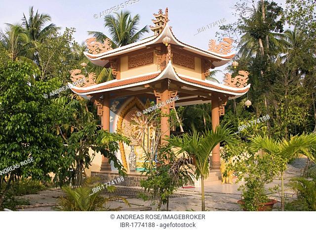 Gian Giac Pagoda, Cai Be, Mekong Delta, Vietnam, Southeast Asia