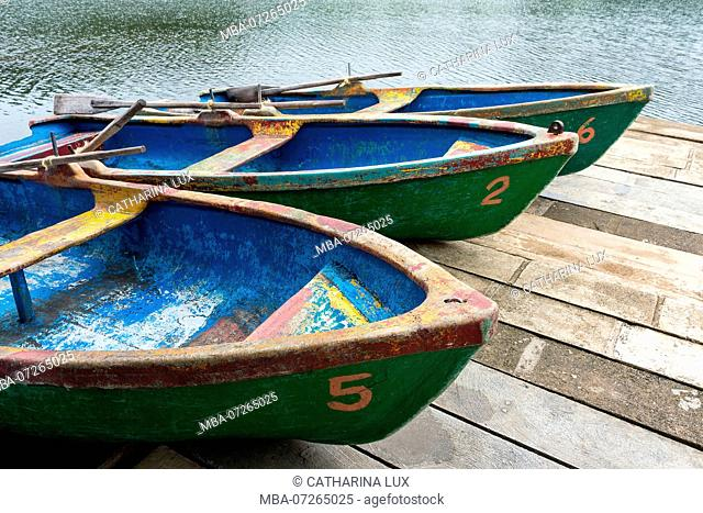 Cuba, nature reserve, Las Terrazas, lake, jetty, rowing boats