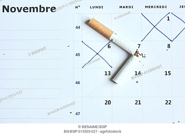 """Giving up smoking. In France, November is once again """"No Smoking November"""", an opportunity to encourage and help French people give up smoking"""