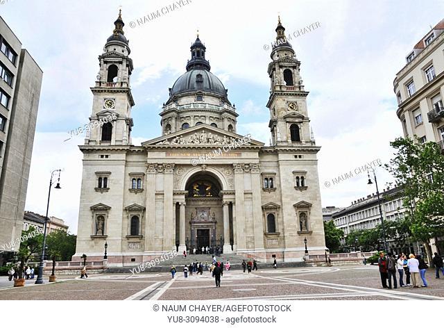 St. Stephen's Basilica, Roman Catholic basilica, Hungary, Budapest, Europe,