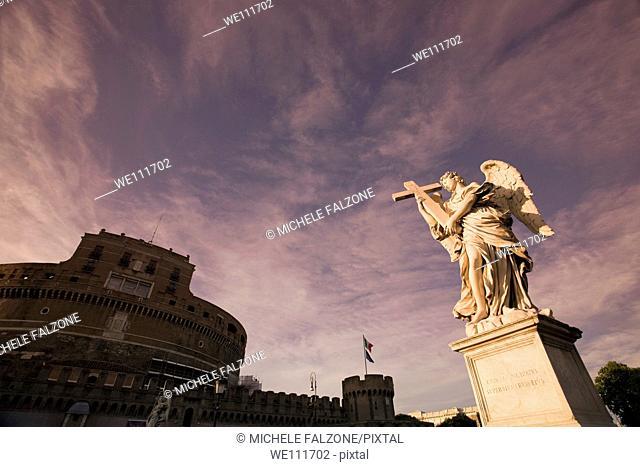 Castel Sant'Angelo and Sant'Angelo Bridge, Rome, Italy