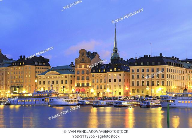 The Old Town at Dusk, Stockholm, Sweden