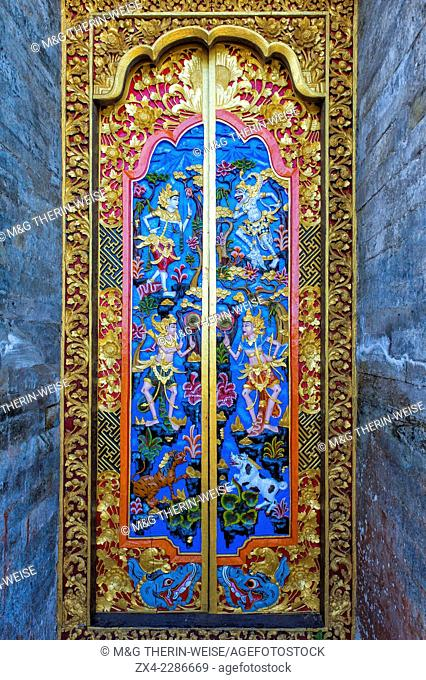 Carved Door, Pura Ulun Danu Batur temple, Bali, Indonesia