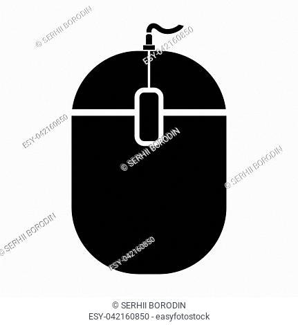 PC mouse it is black color icon